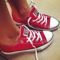 """Кеды женские текстильные  Converse """"Красные низкие""""  р.37,39, фото 1"""