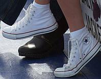"""Кеды  женские текстильные Converse Original """"Белые высокие"""" р.36 - 40"""