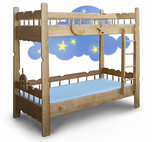 Детские двухъярусные кровати, подростковые кровати из натурального массива дерева.