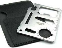Мультитул 11в1 нож кредитка., фото 1