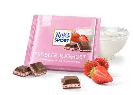 Шоколад Ritter SPORT Erdbeer Joghurt 100 г, фото 2