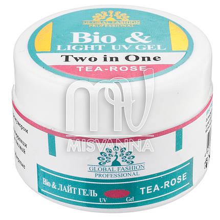 Био гель Bio Gel Global Fashion Tea Roze, 15 мл чайная роза, фото 2