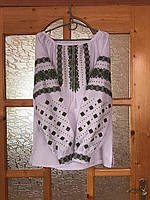 Вишиванка жіночі з орнаментом на домотканому полотні