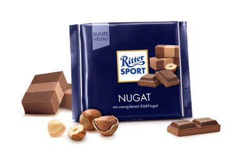 Шоколад Ritter Sport Nugat молочный с нугой из фундука 100 г, фото 2