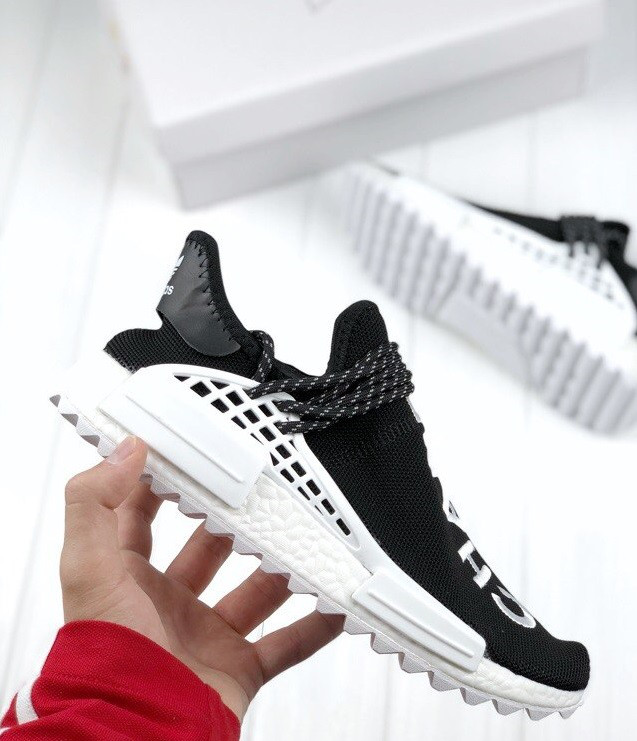 nmd human race black and white