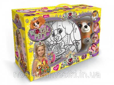 Сумка раскраска Royal Pets + плюшевая игрушка