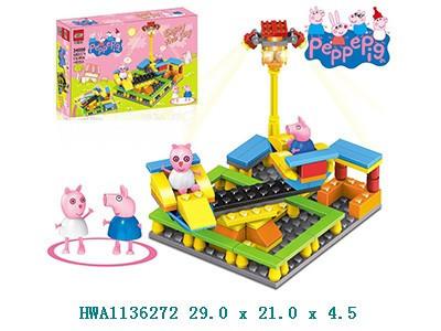 Конструктор Peppa Pig 34006 будівля, фігурка, 110 деталей, в коробці, 29*21*4,5см