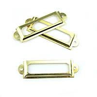 Декоративная рамка накладка золотая. 60*17мм