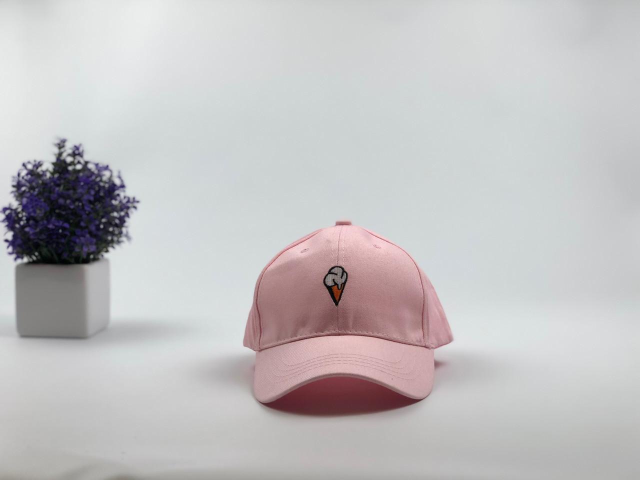 Кепка бейсболка Мороженое (розовая)