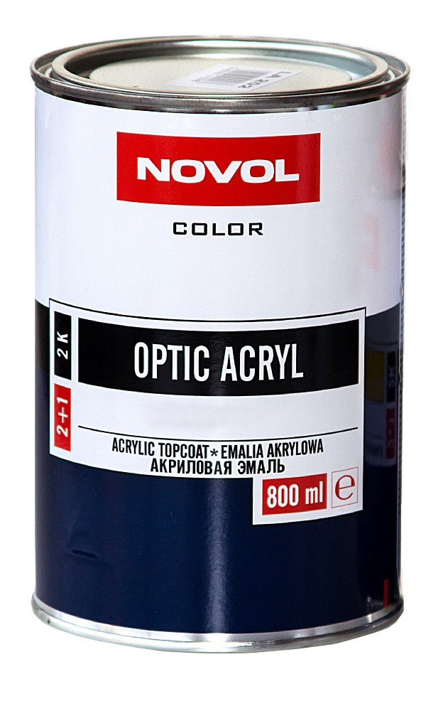 Авто краска (автоэмаль) акриловая NOVOL OPTIC 1110 Серая 0,8л