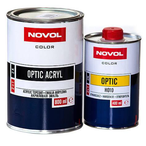 Авто краска (автоэмаль) акриловая NOVOL OPTIC 1110 Серая 0,8л, фото 2