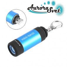 Фонарик брелок аккумуляторный.Светодиодный фонарик USB. LED фонарик. Светодиодный фонарь.