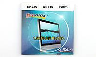 Линзы полимерные Полимерная линза Biomax Blue Block. Индекс 1,56