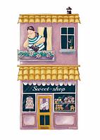 """Открытка """"Магазин сладостей"""", фото 1"""