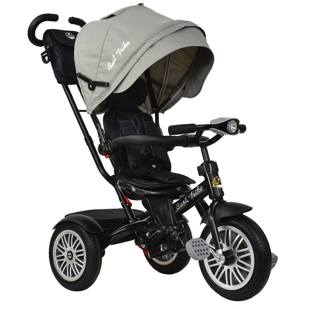 Bелосипед трехколесный  Best Trike 6188 B-8230 с надувными колесами Серый 66544