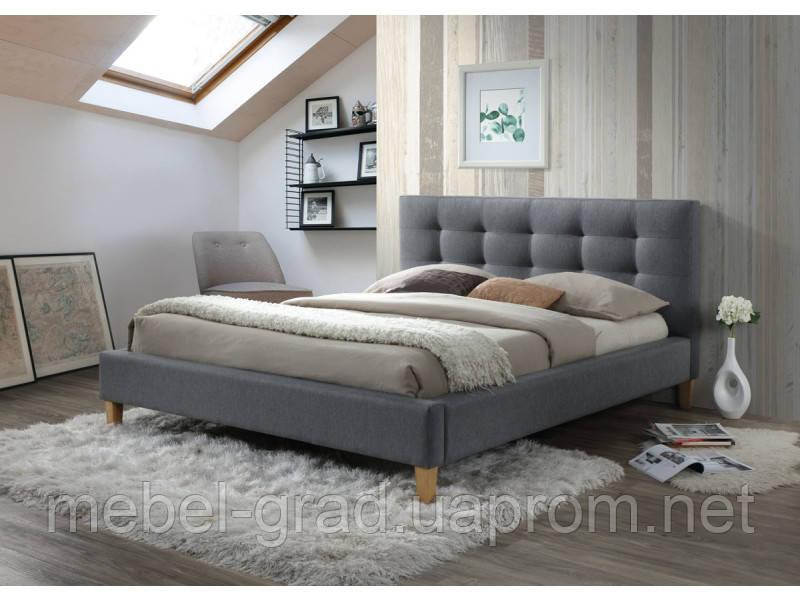 Кровать двухспальная Texas Signal серый 140х200