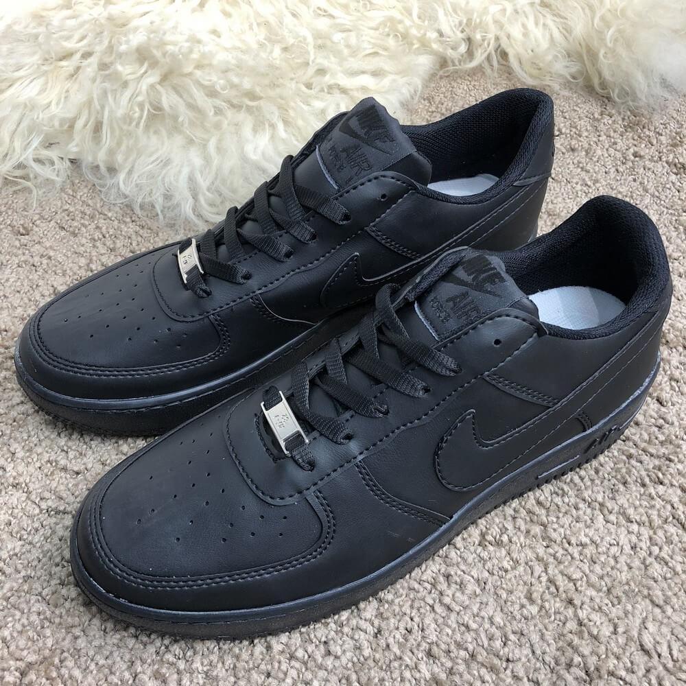Кроссовки мужские Nike Air Force 1 Low 18423 черные - купить по ... 2bf1f9b6ac5