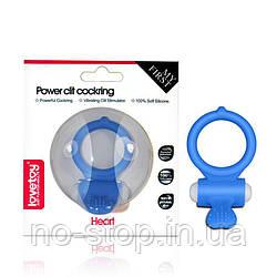 Ерекційне кільце - Power Clit Cockring Heart Blue