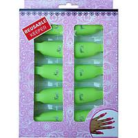 Набор 10 штук Зажимов Клипс для Снятия Гель-Лака Пластиковых, Прищепки, Цвета Микс
