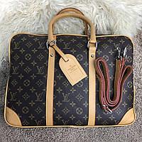 Сумка Louis Vuitton Porte-Dociments Voyage 18420 коричневая, фото 1