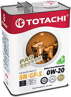 Масло моторное синтетическое TOTACHI Extra Fuel Economy 0W-20 4л.