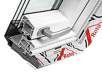 Roto Designo R8 WDF R85К WD (ПВХ) мансардные окна с двумя осями поворота