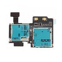 Разьем сим карты (на плате) и карты памяти для Samsung i9500 Galaxy S4/i9505/i337/i545/M919, на шлейфе