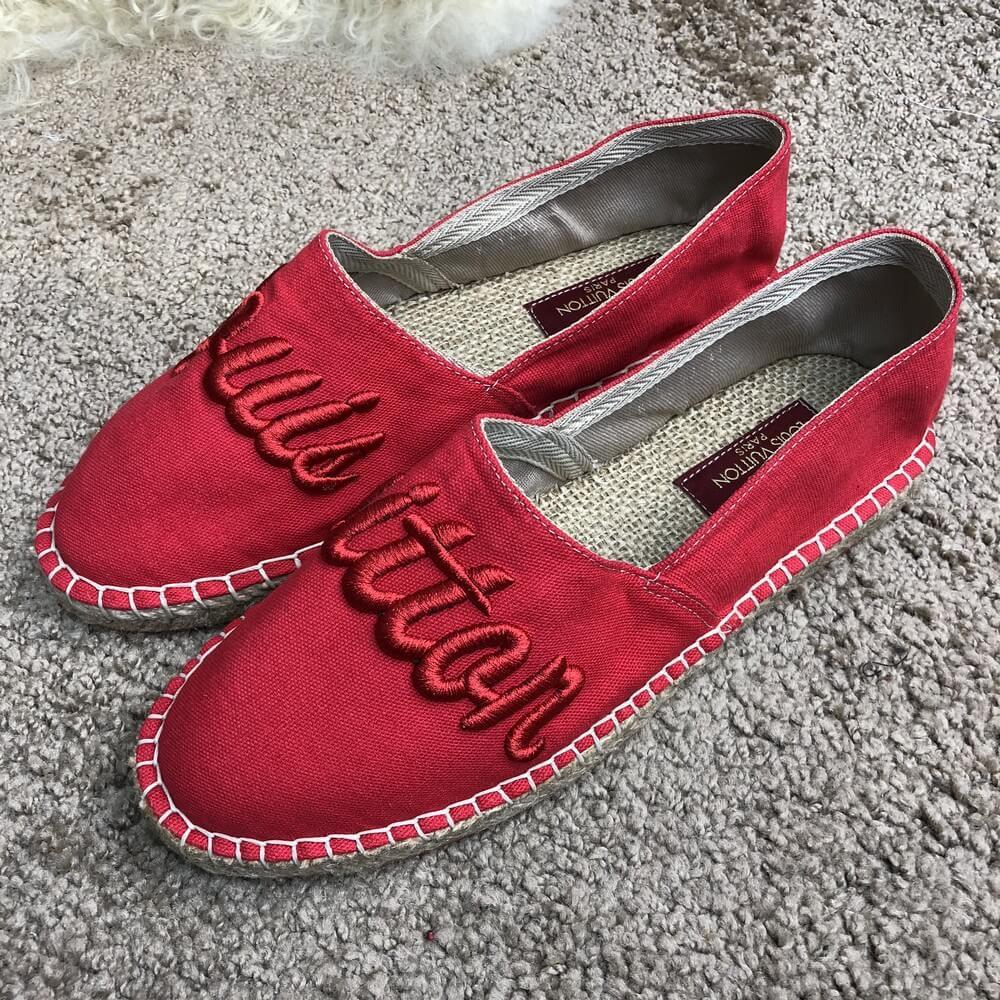 Эспадрильи мужские Louis Vuitton 18431 красные