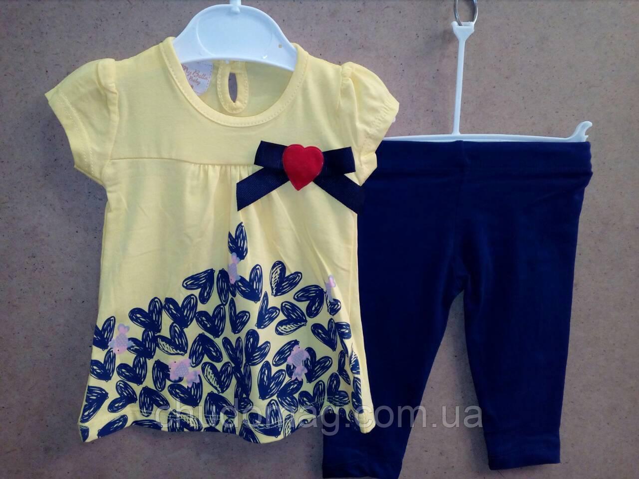 Детский летний костюм лосины и футболка для девочки на 68 - 74 - 80 - 86 a147d3effd7