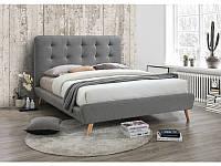 Кровать двухспальная Tiffany Signal серый 160х200