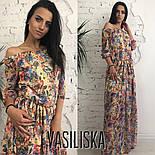 Женское красивое шифоновое платье в пол со спущенными плечиками (5 цветов), фото 9