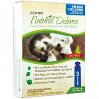Капли Sentry Pro Natural Defense от блох и клещей для собак до 7 кг, 1,5 мл
