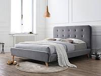 Кровать двухспальная Tiffany Signal серый вельвет 160х200