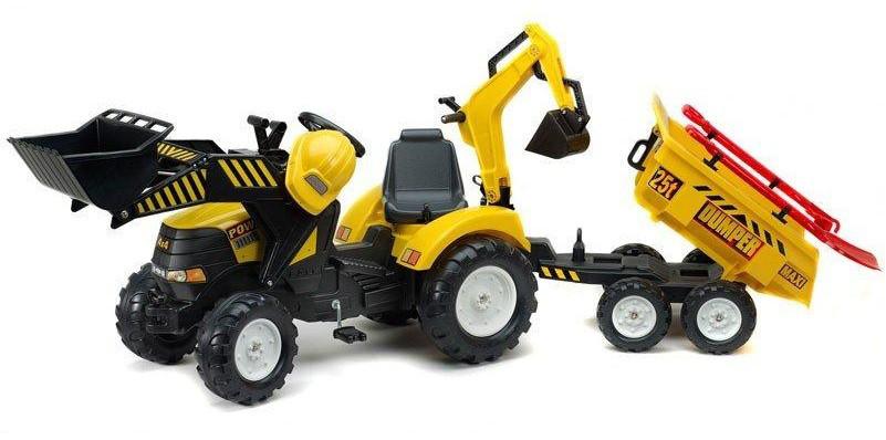 Трактор Педальный Power Loader  Falk  1000WH. Машинка для детей
