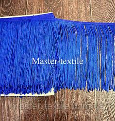 Танцевальная бахрома 15 см (синий)