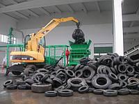 Мощный шредер для переработки отходов шин