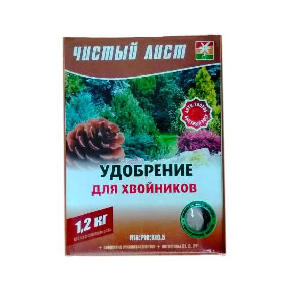 """Удобрение """"Чистый лист"""" для хвойных, 1200г"""