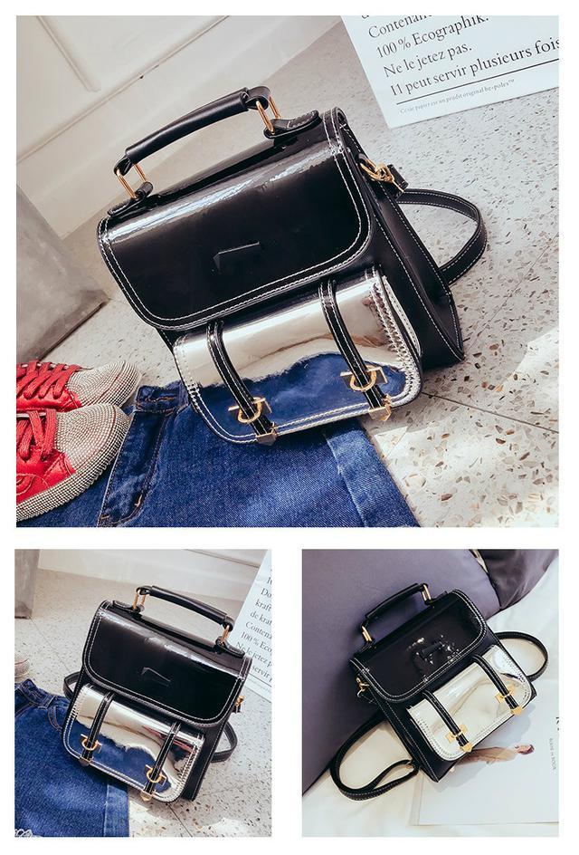 Блестящий мини сумка-рюкзак