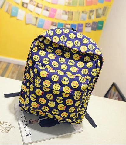 Рюкзак со смайлами в 4 расцветках.