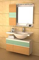 Комплект мебели для ванной комнаты CRW GSP9102 песочный, 930х495х800 мм