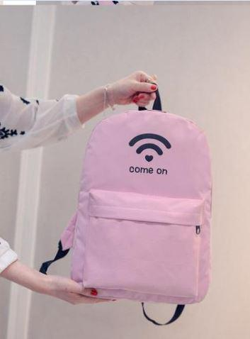 Рюкзаки молодежные с принтом wifi.