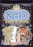 Детские татуировки блокнотом для мальчиков тигры