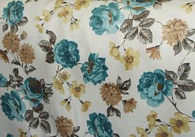 Ткань мебельная обивочная велюр Родос (цветочная) модель 7042