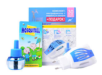 """Фумигатор """"Нежная защита для детей"""" + жидкость от комаров + подарок """"Mosquitall"""""""