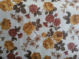 Ткань мебельная обивочная велюр Родос (цветочная) модель 7040