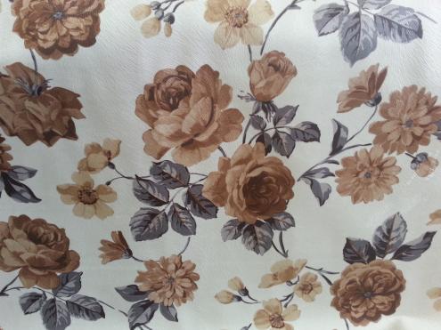 Ткань мебельная обивочная велюр Родос (цветочная) модель 7045