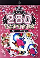 Детские татуировки книжкой для девочек цветочки
