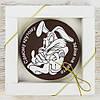 """Шоколадная медаль """" Самому крутому зайке """" классическое сырье. Размер: Ø80х8мм, вес 50г"""