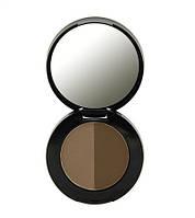 Тени для бровей двойные Dark Brown Freedom Makeup с зеркалом