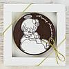 """Шоколадная медаль """" Моему ангелочку """" классическое сырье. Размер: Ø80х8мм, вес 50г"""